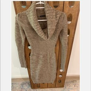 Gorgeous Brown and Tam Cowl Neck Sweater Dress
